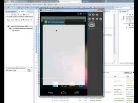 Android jUnit testing - Coursera - Permission Lab Part 1 & Part 2