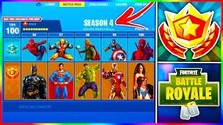 "Fortnite 'LEAKED' ""SUPERHERO"" SKINS Trouvé dans la saison 4! Fortnite ""THE FLASH"" - ""WONDERWOMAN"" Peau!"