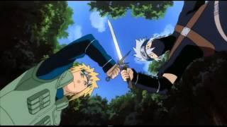 Kakashi vs 4 hokage HD