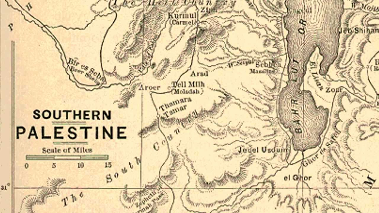 1900 Middle East Map.Palestine Before Israel Maps Youtube