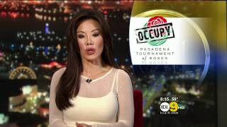 Sharon Tay & Suzie Suh 2011/12/27 8PM KCAL9 HD; Sheer white top, satin pink top