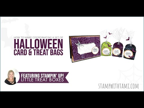 How To Make A Halloween Treat Box & Card Set With Spooky Spider Web
