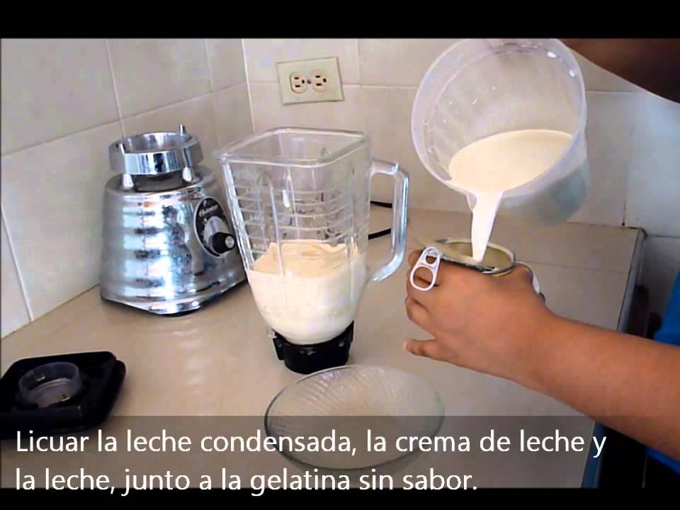 como se prepara postre de tres leches