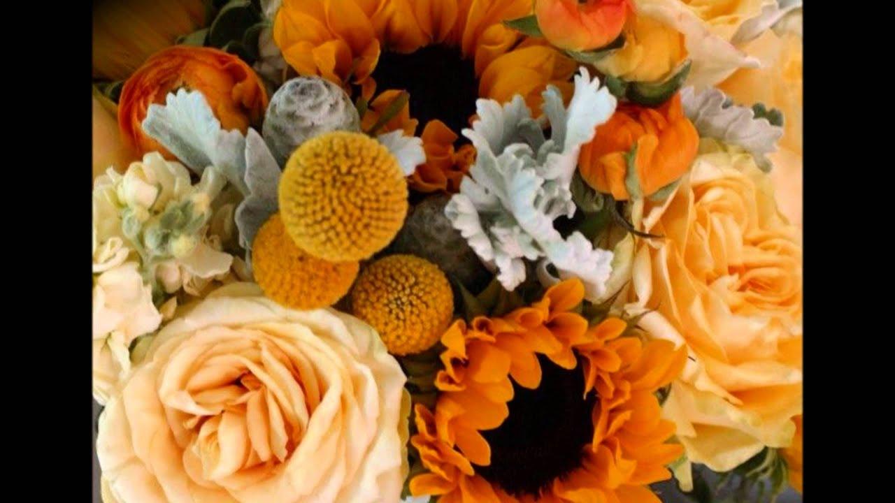 Sunflower Wedding Bouquets Centerpieces
