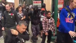 Antifa bike lock assault. New video!
