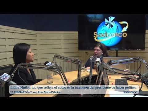 Indira Huilca: Lo que refleja el audio es la intención del presidente de hacer política