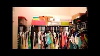Walk In College Apartment Closet Tour/Organization Thumbnail