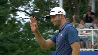 Dustin Johnson confidently rolls in his eagle putt at RBC Canadian