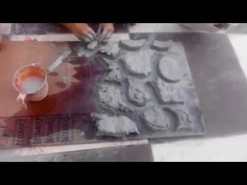 DIY RESIN / FIBRE EPOXY MOLD MAKING CLAY SHAPE PROCESSING ART MOLDING MAKING