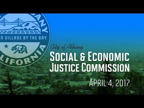 Social and Economic Justice Commission - April 4, 2017
