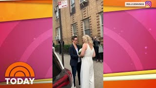 Couple Marry On Sidewalk As Friend Officiates From 4th-Floor Apartment | TODAY