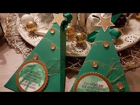 Christmas tree box mit Produkten von STAMPIN UP