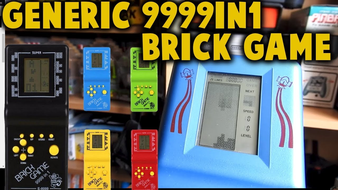 Color E9999-in-1 LCD Brick Classic Game Review (9999 in 1) Gameplay