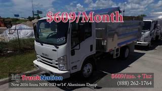 New 2016 Isuzu NPR HD w/14ft Aluminum Dump - MJ TruckNation
