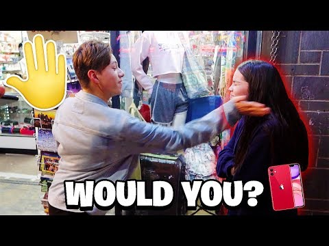 WOULD YOU SLAP  YOUR GIRLFRIEND FOR AN iPHONE 11?!? THE RESULTS!
