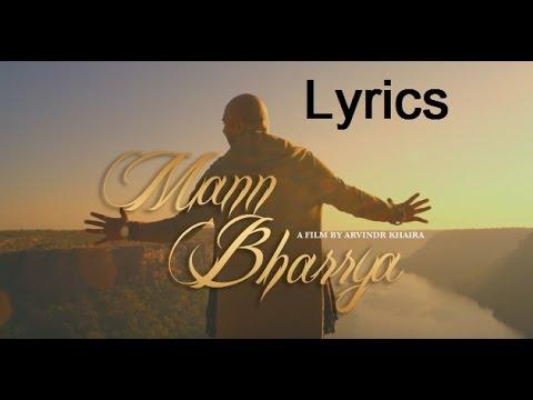 Mann Bharrya lyrics(full song) B Praak   Himanshi Khurana  Arvindr Khaira   Heart touchingSong