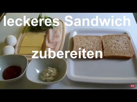 Sandwich Rezept – Das beste Clubsandwich selber machen – in 3 Minuten Essen selber machen