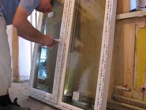 видео: Установка пластикового окна одним человеком