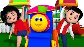 Bob o trem | Rimas e canções de berçário para crianças | Vídeos de desenhos animados para crianças
