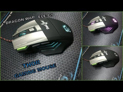 Dragon War ELE-G9 Red Gear Thor Wired Gaming Mouse - Unboxing Video