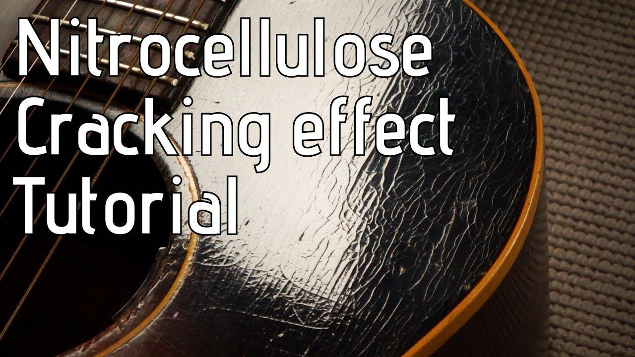 Checking / cracking a nitro guitar finish - Nitrocellulose relic tutorial