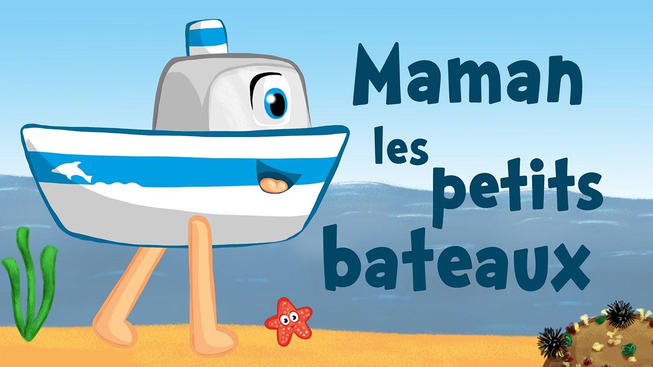 Maman les petits bateaux comptine avec paroles youtube - Dessin petit bateau ...