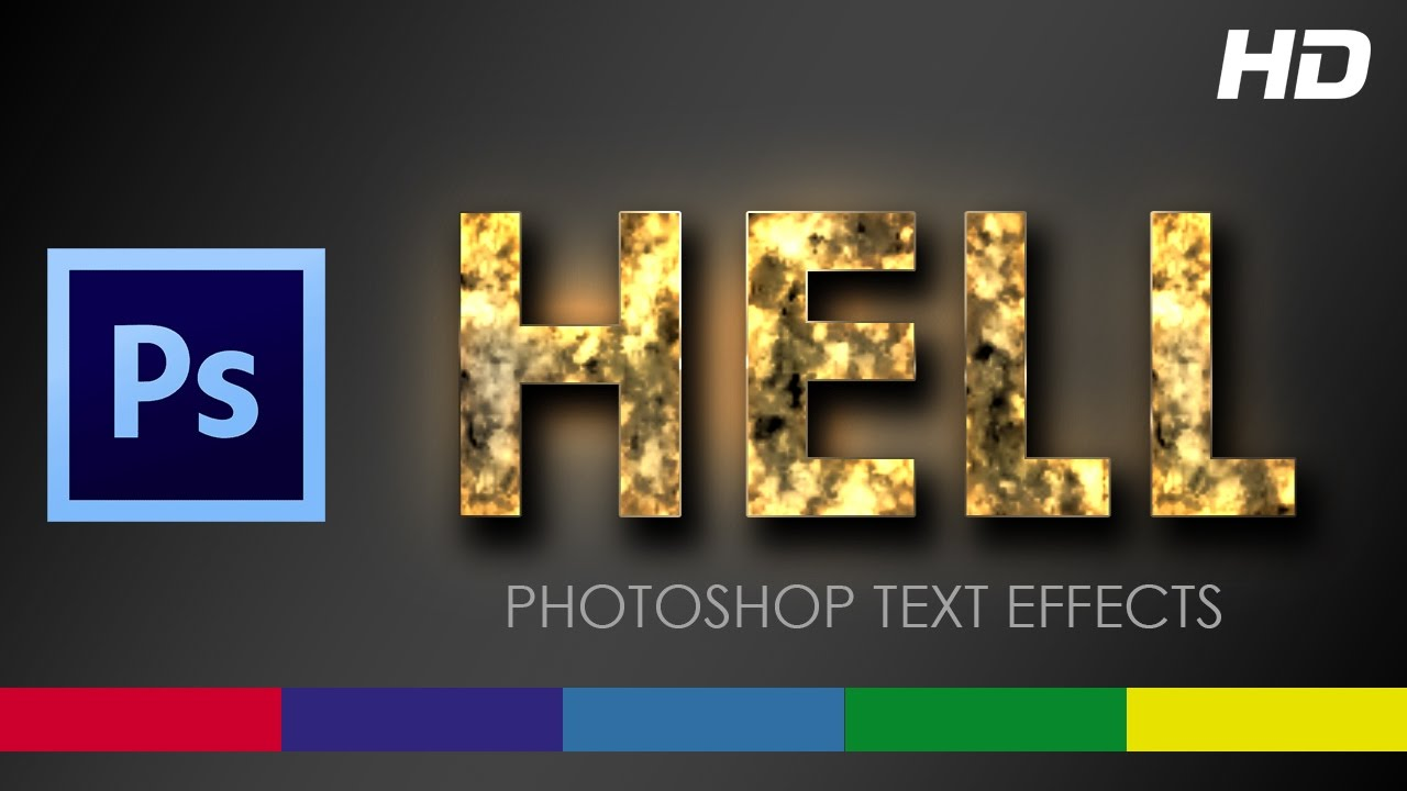 Fire Text Effect Photoshop CS6 Tutorial Video - YouTube