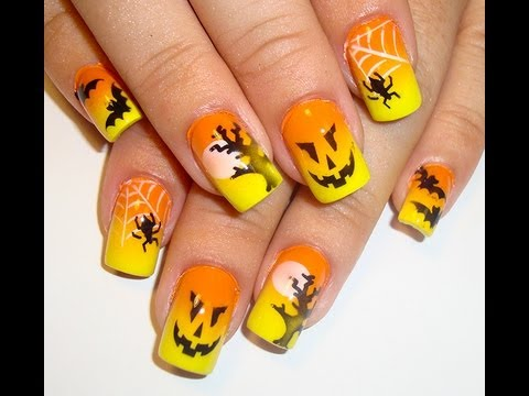 Halloween Nail Art How To Airbrush Youtube