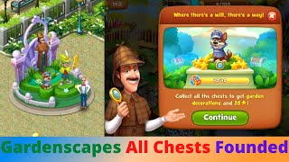Gardenscapes All Chests Founded Walkthrough screenshot 3