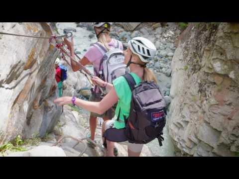 The Gorge Alpine via ferrata adventure with the Saas-Fee Guides