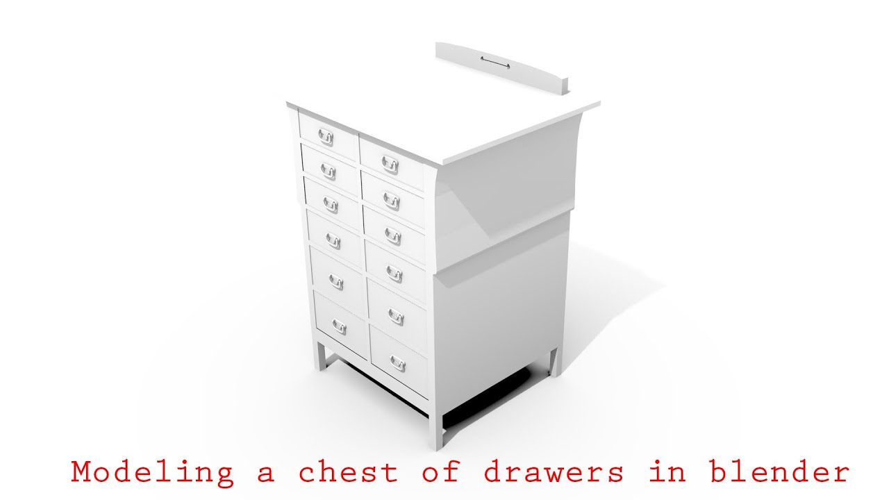 Blender Tutorial Modeling A Chest Of Drawers YouTube