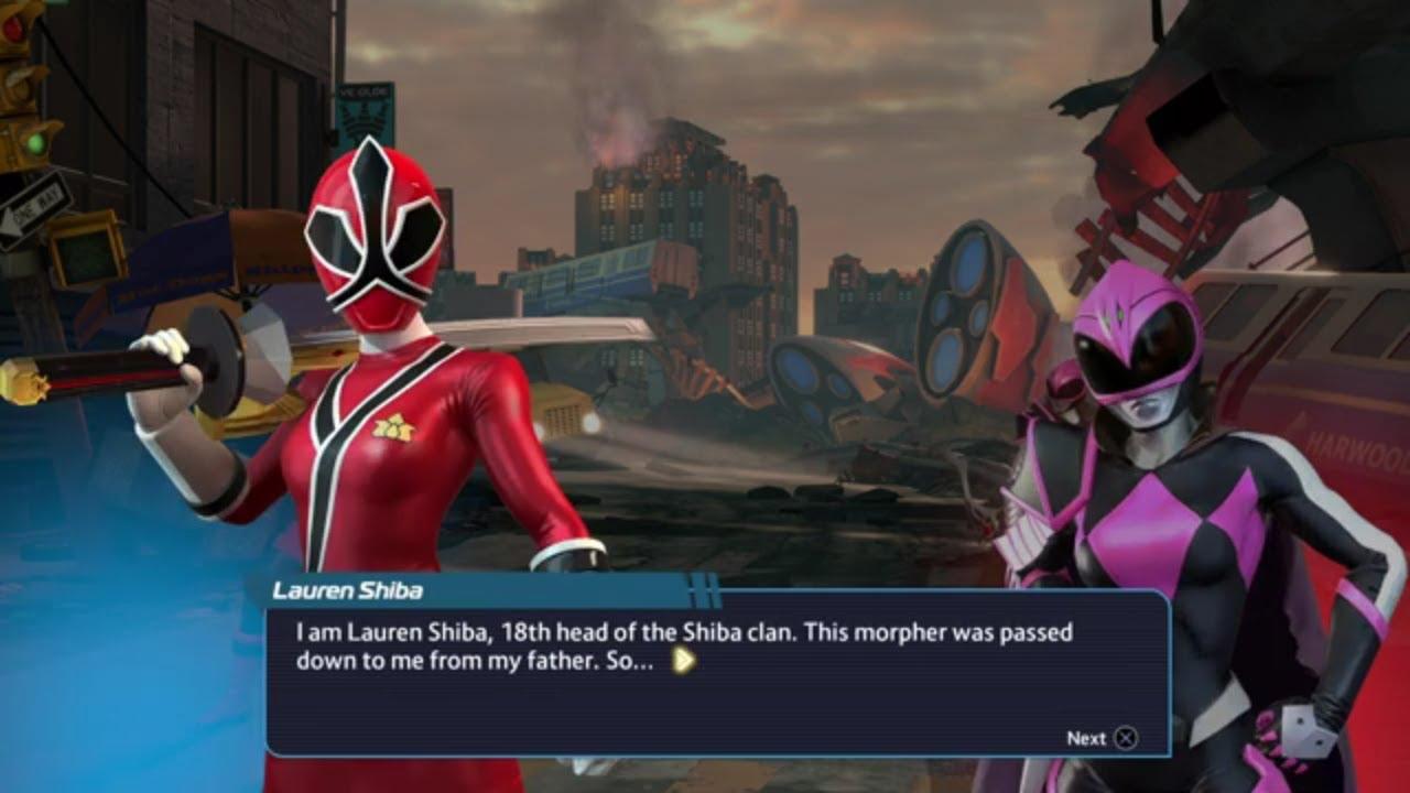 Download Power Rangers - Battle for The Grid Samurai Red Ranger Lauren Shiba In Arcade Mode