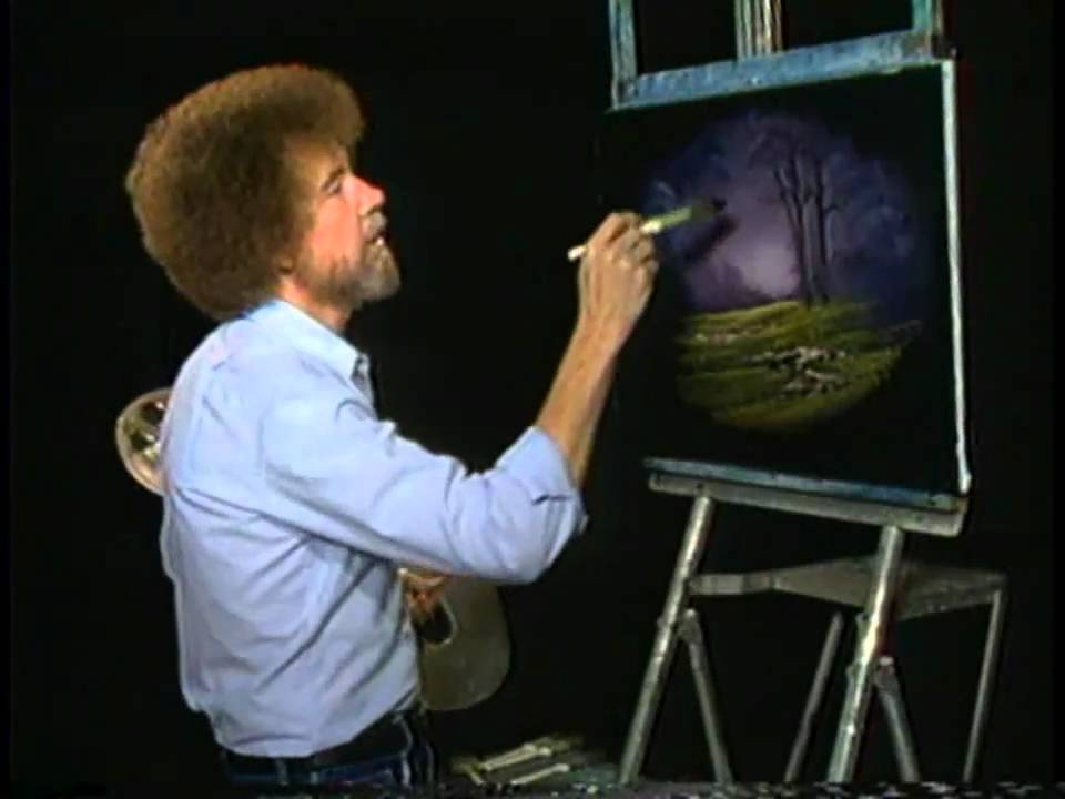 Bob Ross The Joy Of Painting A Thin Paint Will Stick To A Thick