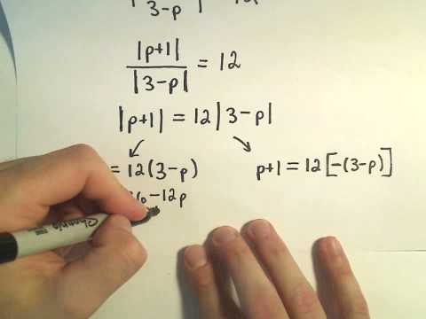 Solving Absolute Value Equations Containing TWO Absolute Value Expressions - Example 1