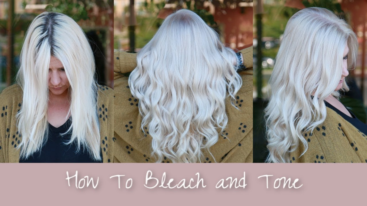 How To: Platinum Hair| Bleach & Tone Hair Tutorial