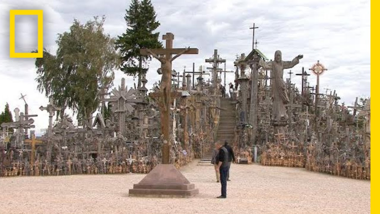 go inside lithuania s hill of crosses national geographic youtube