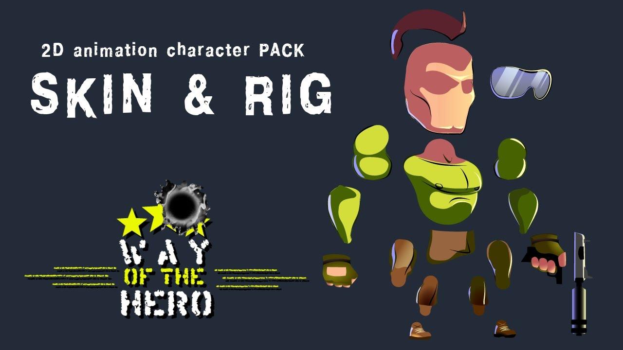 Asset 2D Run & Gun anim Character Pack- Rig