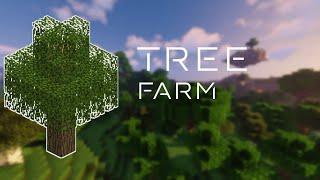 Minecraft Tree Farm Tutorial | Bedrock 1.14.2