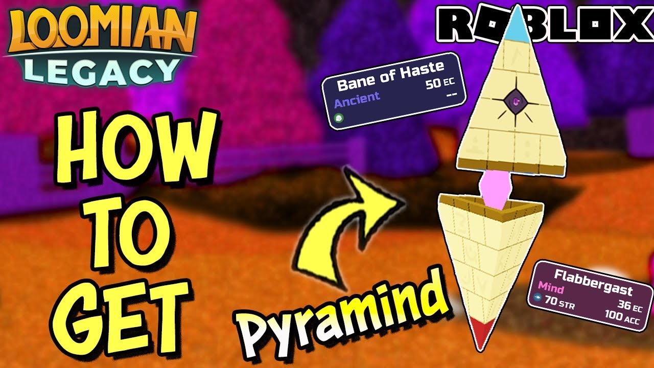 How To Get Evolve The Pyramind In Loomian Legacy Roblox Youtube
