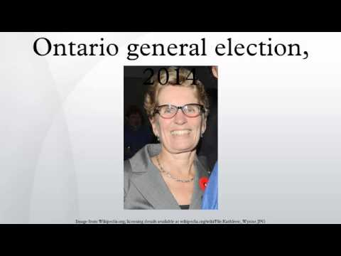 Ontario general election, 2014