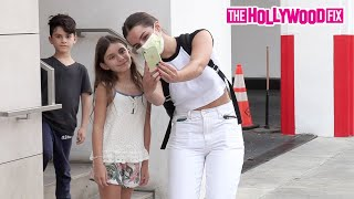 Addison Rae Teaches Fans How To TikTok Dance While Leaving Lunch In Beverly Hills