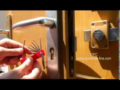 kit de crochetage de poche plastique palpeur cylindre abus youtube. Black Bedroom Furniture Sets. Home Design Ideas