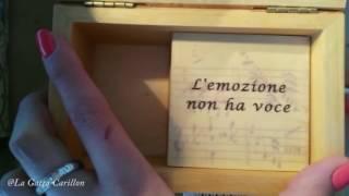 Adriano Celentano - L'emozione non ha voce , Carillon Portagioie personalizzato con spartito