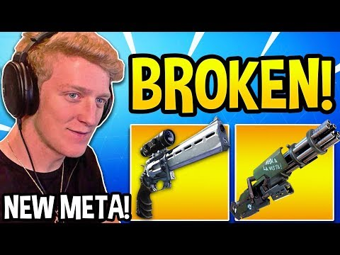"TFUE Shows *UNBEATABLE* ""SCOPED REVOLVER & MINIGUN"" STRATEGY in Fortnite! thumbnail"