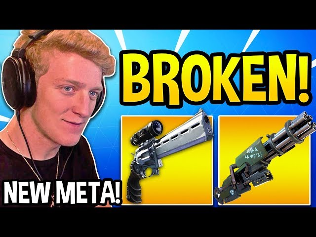 "TFUE Shows *UNBEATABLE* ""SCOPED REVOLVER & MINIGUN"" STRATEGY in Fortnite!"