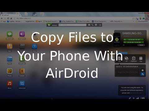 Samsung Galaxy S3 Tutorial  Transfer  Copy files to your phone using Airdroid