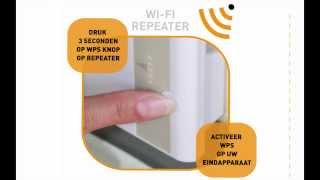 Wifi repeater installatie