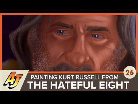 Art of Andrew Jones 26: Kurt Russell in The Hateful Eight painting