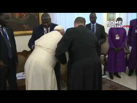 Pope to enemy leaders of South Sudan: Your people are tired of war