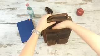 Обзор мужской кожаной сумки Tiding Bag t1171